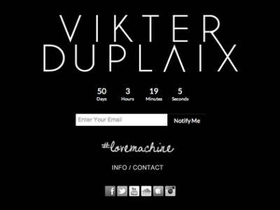 VIKTER DUPLAIX COUNTDOWN PAGE & SITE UNDER CONSTRUCTION