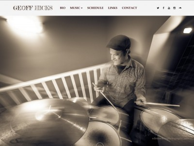 DRUMMER GEOFF HICKS (UNDER CONSTRUCTION)