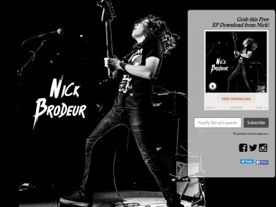 NICK BRODEUR LANDING PAGE + NOISETRADE CREATION