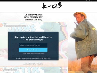 K-OS – Views From The Stix – E-COMMERCE & EMAIL FOR STREAMING